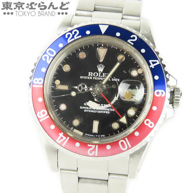 101505163 1円 ロレックス ROLEX 16700 N番 GMTマスター 時計 腕時計 メンズ 自動巻 SS 赤青 ベゼル ペプシ オイスター Cal.3175 ジャンク