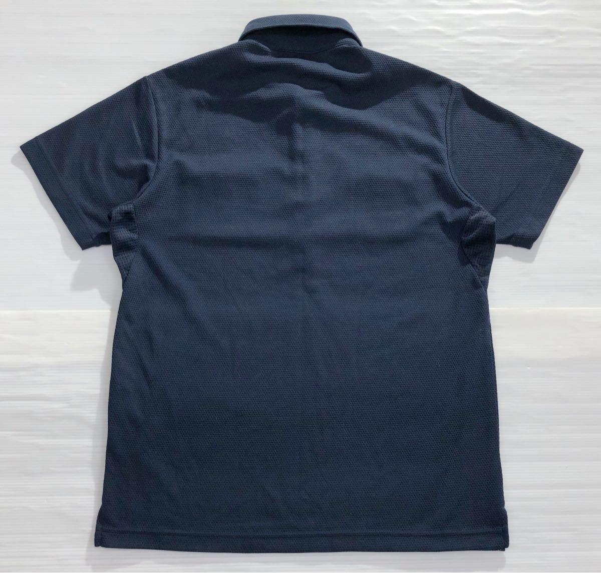 《le coq sportif GOLF ルコックゴルフ》ロゴ FR-03刺繍 半袖 ポロシャツ ネイビー M_画像2