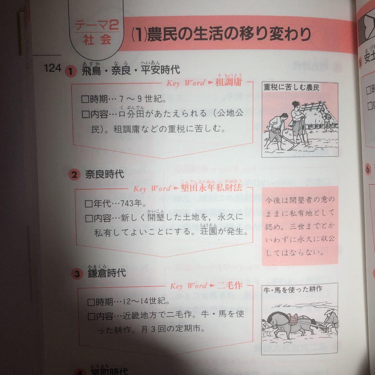 中学社会 「みるみる覚える歴史の要点」 参考書 定期テスト対策