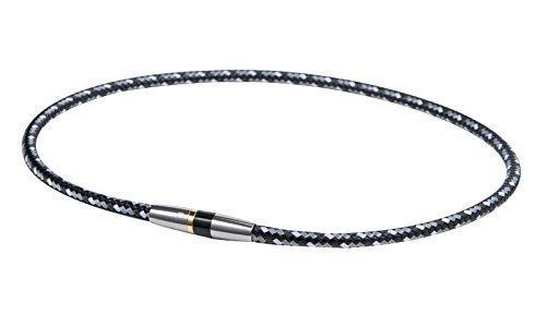 新品ブラック 50cm ファイテン(phiten) ネックレス RAKUWA ネックX50 ハイエンドIII 5CBHW_画像1