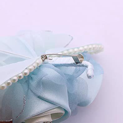 ブルー (クレインズコレクション) 手作り パール コサージュ フォーマル エレガント 入学式 卒業式 入園式 卒園式 結婚式 _画像4