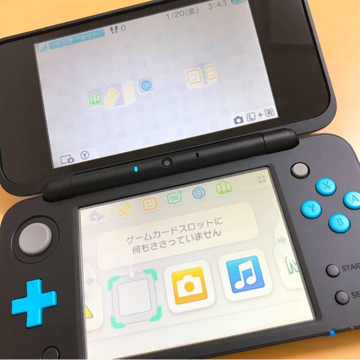 ニンテンドー2dsll  ターコイズ 本体 充電器 ソフト1つおまけつき New Nintendo 2DS LL