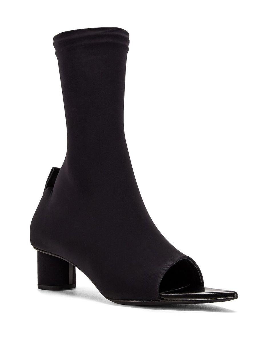 新品 37.5 JIL SANDER Open Toe Bootie ジルサンダー ブーツ サンダル パンプス ミュール PRADA ショートブーツ ブーティ 靴 革靴 24.5