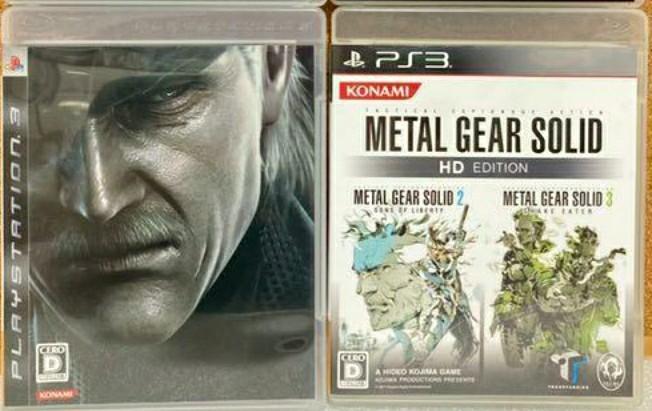 PS3 メタルギアソリッドHDエディション+メタルギアソリッド4 動作確認済み 送料無料