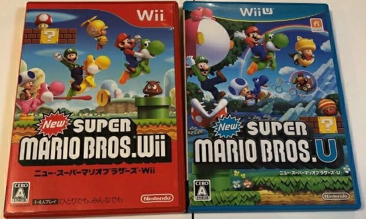 WII,WiiU  Newスーパーマリオブラザーズ NewスーパーマリオブラザーズU 動作確認済み 送料無料
