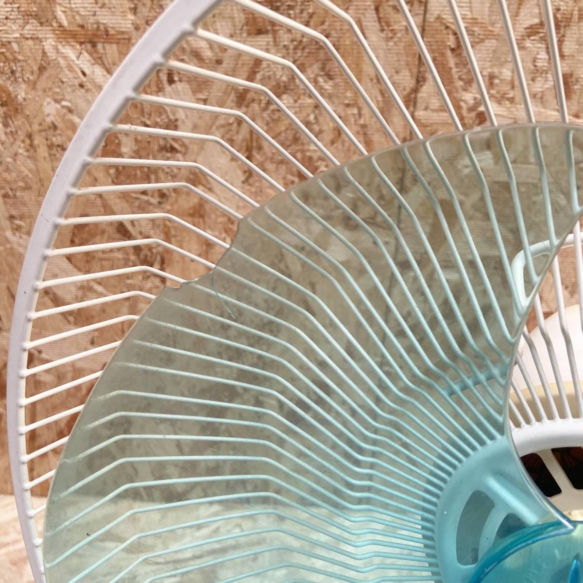 甲HK7837 動作品 難アリ 富士産業 卓上用扇風機 昭和レトロ FWS-30 3枚羽根 3段階 タイマー 元箱つき 現状品_画像5