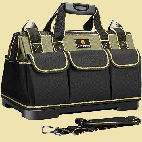 未使用 新品 ツ-ルバッグ Drado J-8C 防水 40㎝×23㎝×28㎝ 工具バッグ 工具袋 道具袋 ベルト付 工具差し入れ 大口収納_画像1