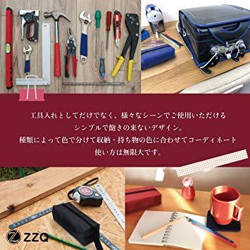 2色 ZZQ ツールバッグ 工具入れ 工具 腰道具 小物入れ ペンケース バッグ 小型 便利 腰 オックスフォード地 25cm _画像6