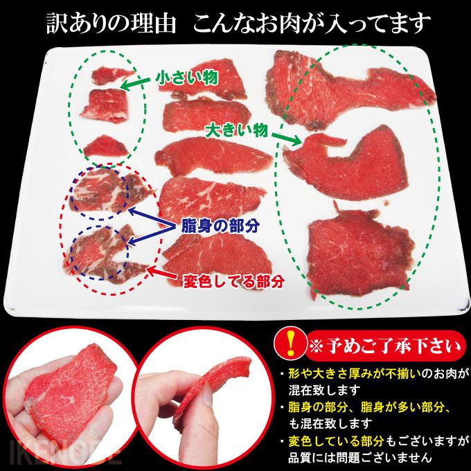 送料無料 お得用訳あり牛こま肉1kg冷凍 2セット購入でおまけお肉増量中 小間肉 コマ 切り落とし 牛肉 オーストラリア アメリカモモ もも_画像3