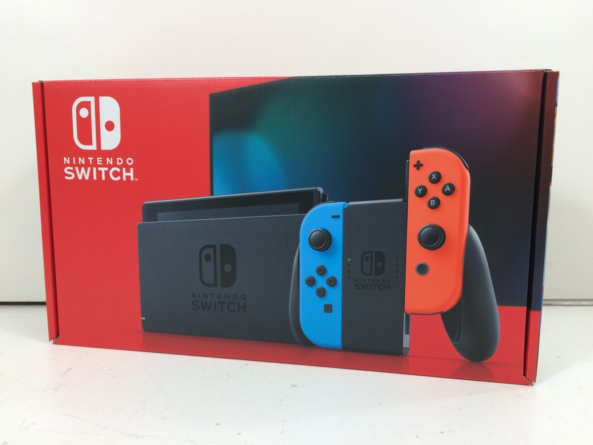 任天堂 Nintendo Switch ニンテンドースイッチ Joy-Con (L) ネオンブルー/ (R) ネオンレッド 新モデル 本体 未使用 4_画像1