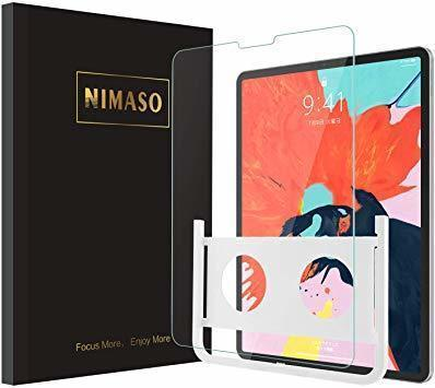 新品11 inch NIMASO ガイド枠付き ガラスフィルム iPad Air 第4世代 用 iPad Pro 1AH0W_画像1