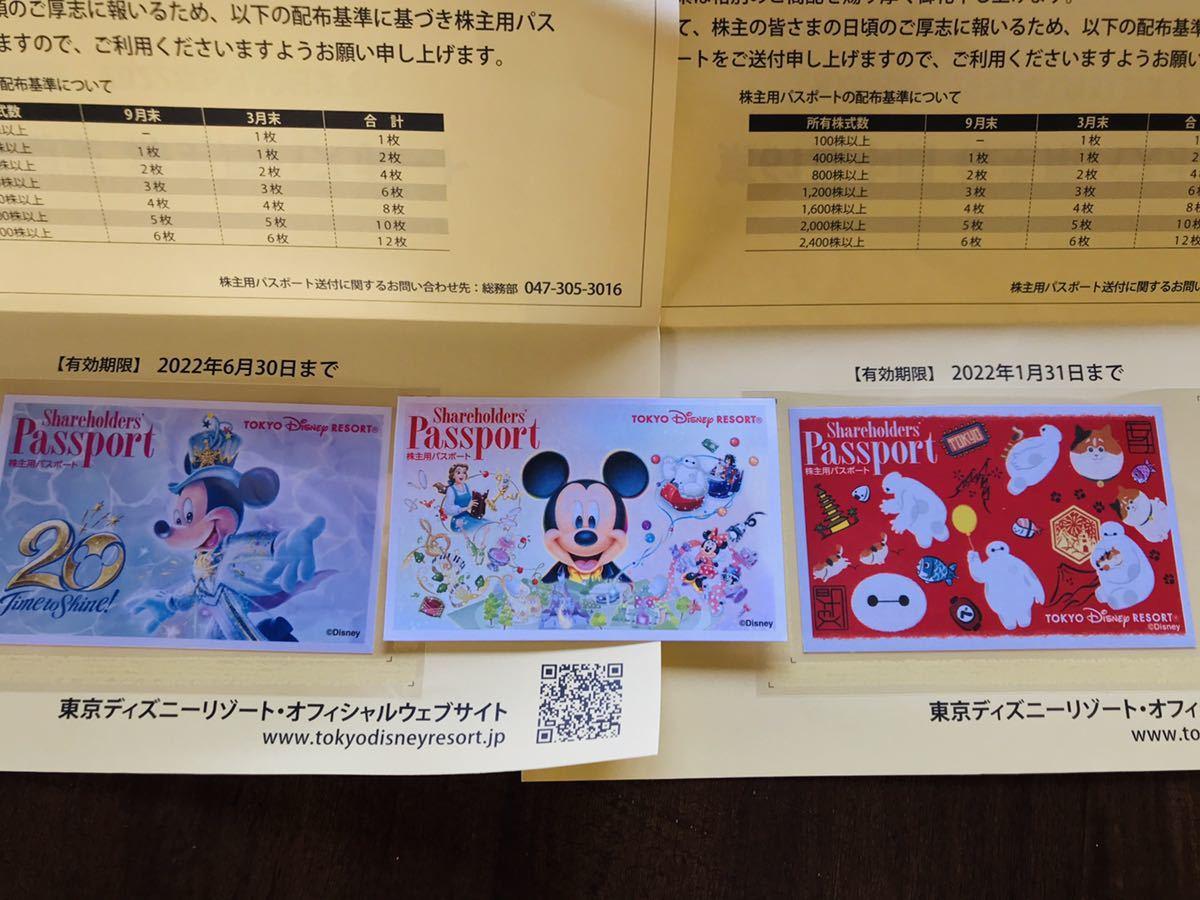 東京ディズニーランド、ディズニーシー オリエンタルランド株主優待ワンデイパスポート3枚_画像1