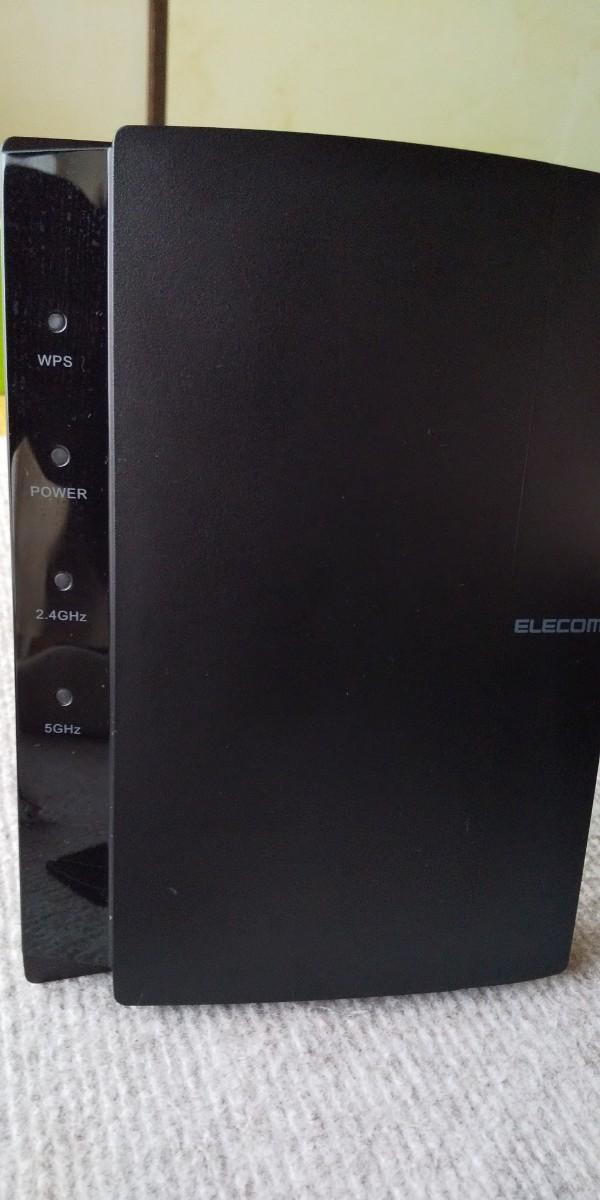 ELECOM 無線LANルーター WRC-1167GEBK-S ブラック