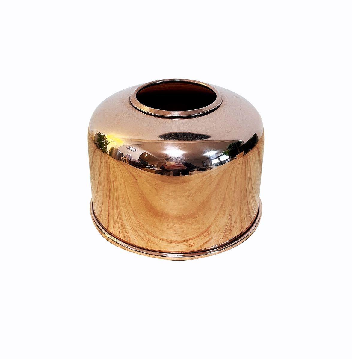 OD缶カバー ガスカートリッジカバー 銅製  鏡面仕上げ!ガスランタンカバー