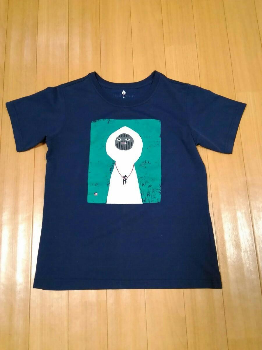 モンベル 半袖Tシャツ 白い山男 女性用Sサイズ