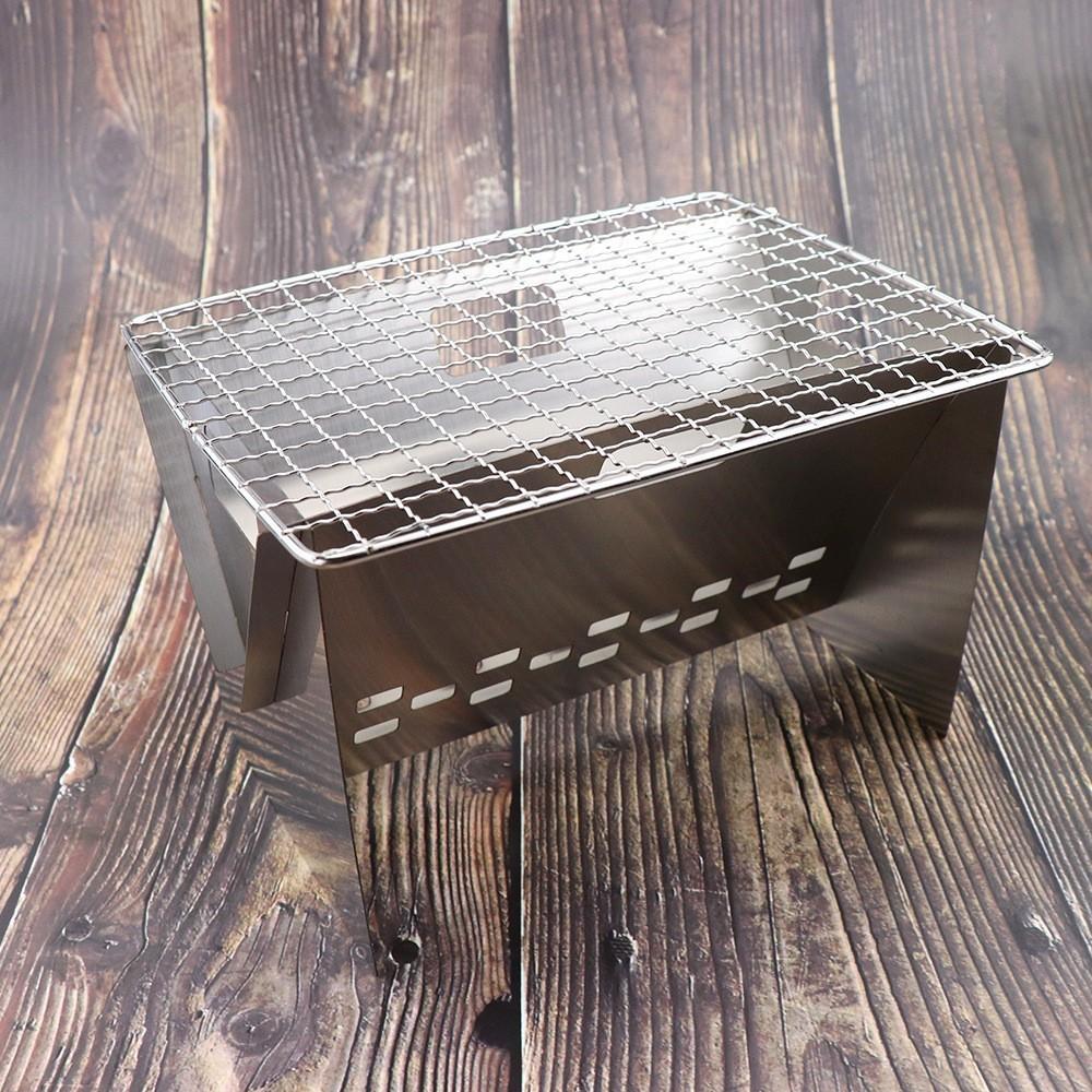 「値下げ」BBQ コンロ 折り畳み バーベキュー 焚火台 キャンプ用品
