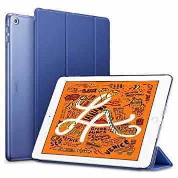 ネイビーブルー ESR iPad Mini 5 2019 ケース 軽量 薄型 PU レザー スマート カバー 耐衝撃 傷防止 ク_画像1
