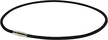 ブラック 50cm ファイテン(phiten) ネックレス RAKUWA 磁気チタンネックレス メタルトップ 50cm_画像1