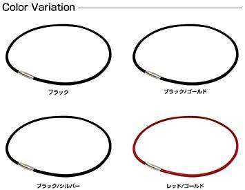 ブラック 50cm ファイテン(phiten) ネックレス RAKUWA 磁気チタンネックレス メタルトップ 50cm_画像5