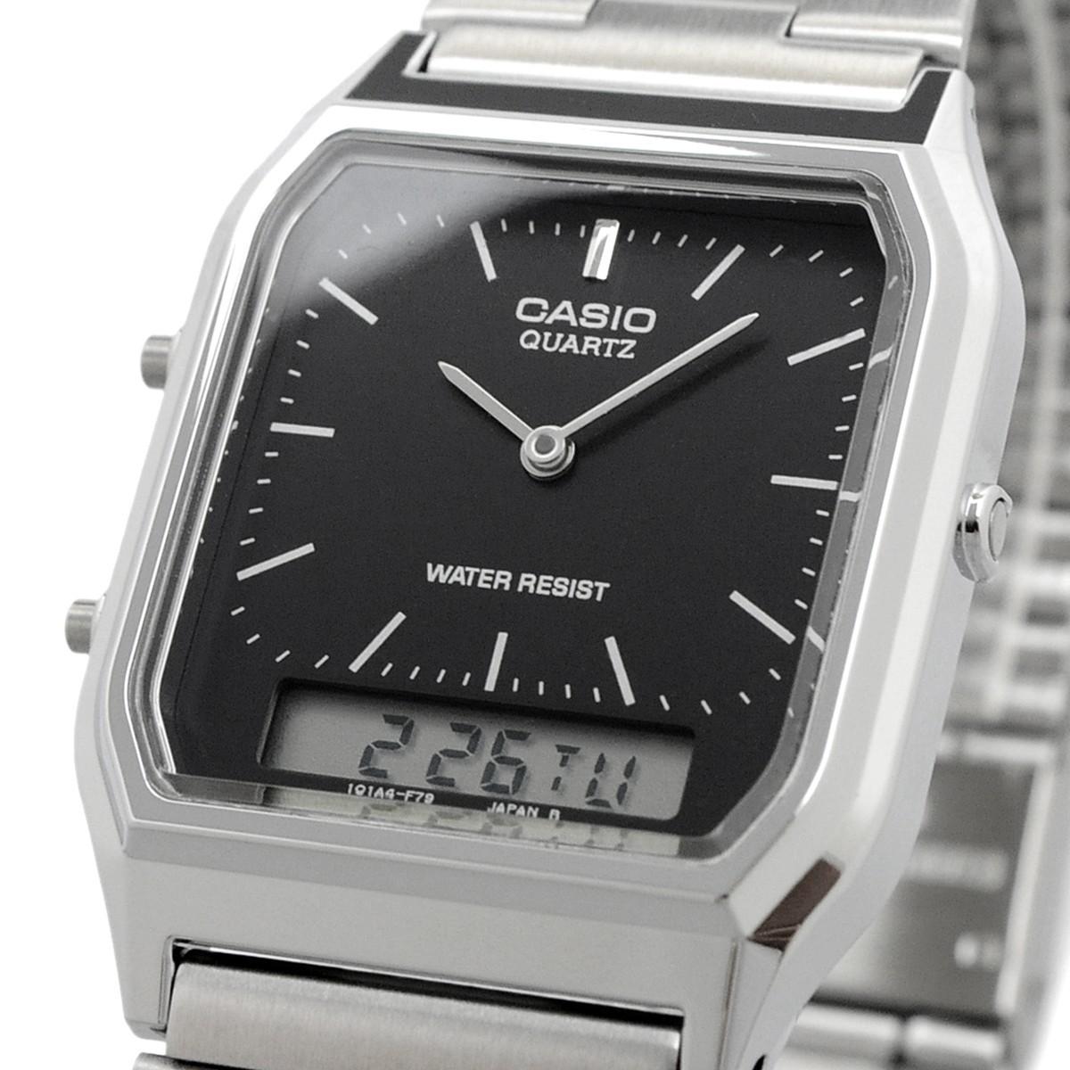 送料無料 腕時計 CASIO カシオ 海外モデル AQ-230A-1 チープカシオ デュアルタイム アナログ デジタル ユニセックス_画像1