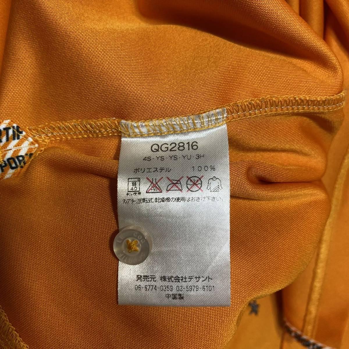 le coq sportif Golf ルコック ゴルフ 半袖ポロシャツ オレンジ メンズ L 迅速発送 送料無料!_画像5