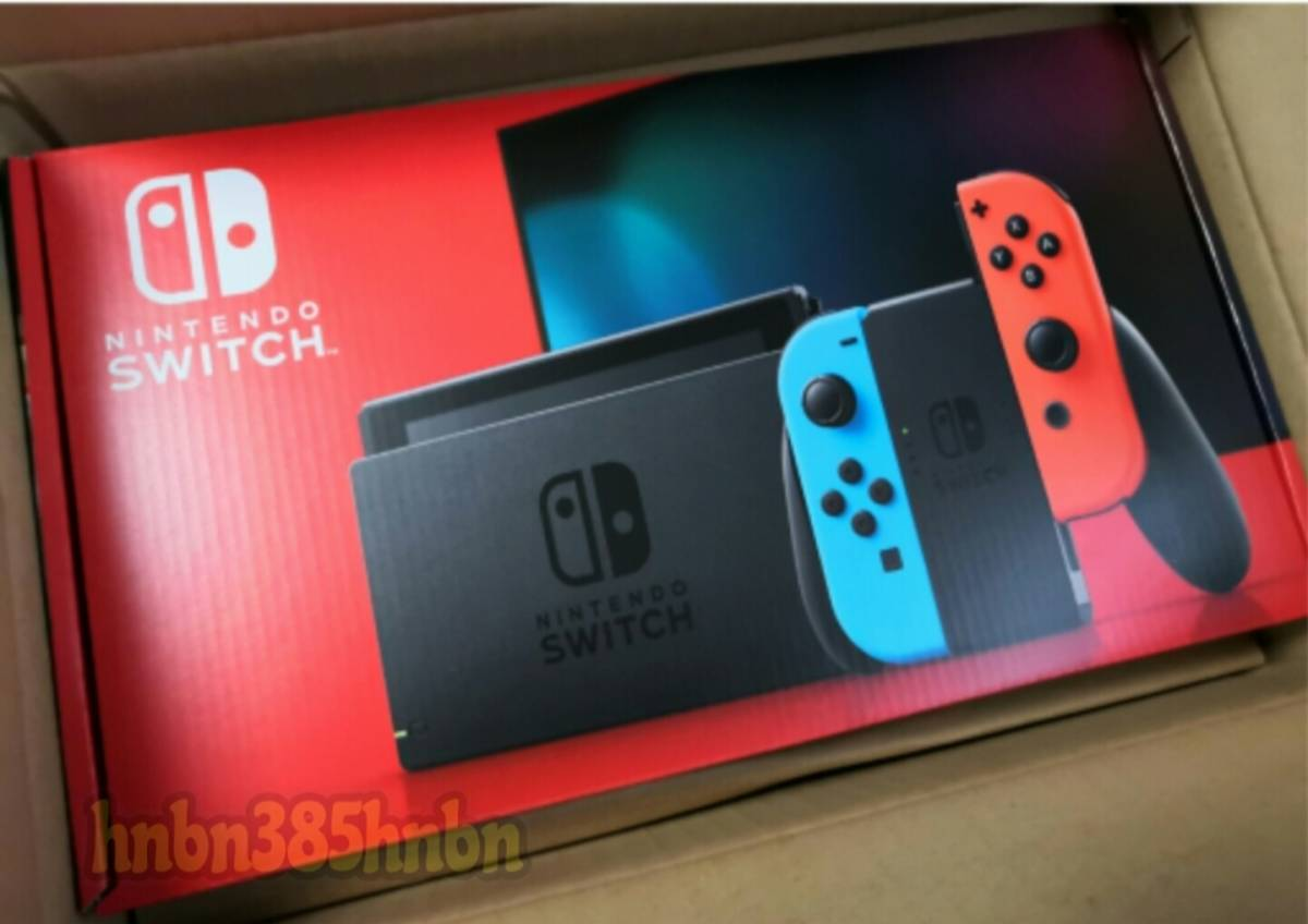 即日発送◆新品・未開封 新型 Nintendo Switch Joy-con(L)ネオンブルー/(R)ネオンレッド ニンテンドー スイッチ 本体 送料無料_画像1