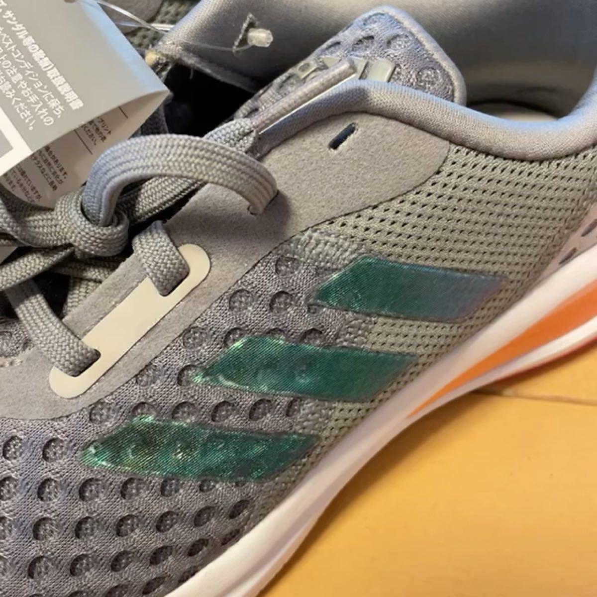 新品タグ付!adidas スニーカー シューズ 23.5cm ランニングシューズ アディダス