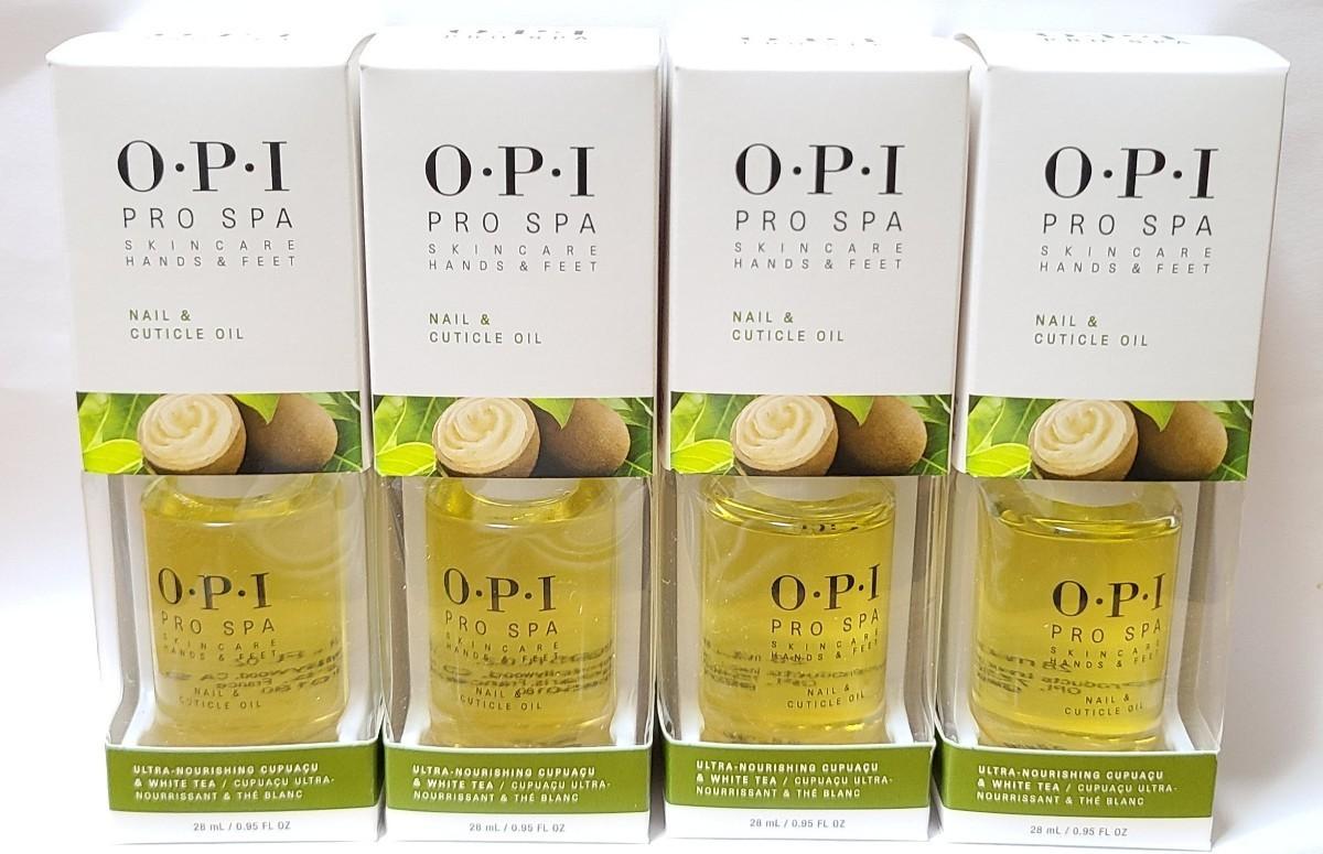 4 x OPI プロスパキューティクルオイル 28 ml Pro Spa Nail & Cuticle Oil .5 oz セット