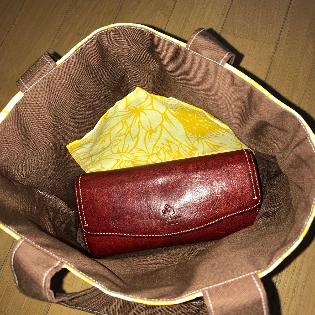 ハンドメイド トートバッグ 黄色ハイビスカス