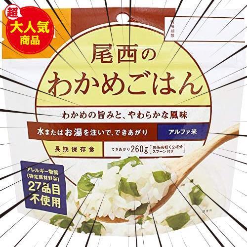 【残り1点】 各味1食×12種類) 5年保存 アルファ米12種類全部セット(非常食 尾西食品_画像4