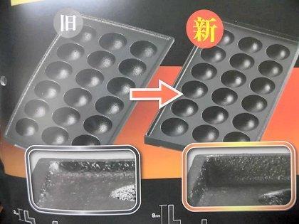★新品 たこ焼き 店舗 屋台 業務用たこ焼き器 ガス 鉄板 ジャンボ 47㎜ 18穴 3連 3口 3丁 183SH フチ高_画像5