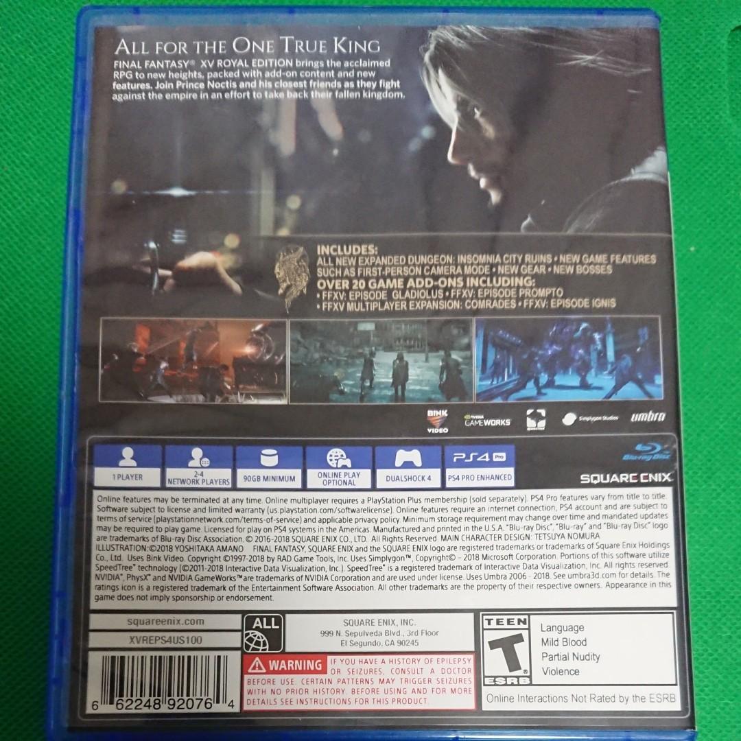 ファイナルファンタジー 15 北米版  PS4