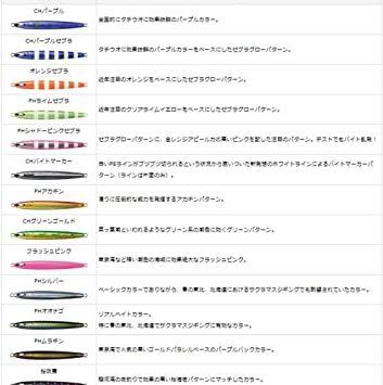 PHシャドーピンクゼブラ 100g ダイワ(Daiwa) タチウオ 鏡牙ジグ セミロング_画像4