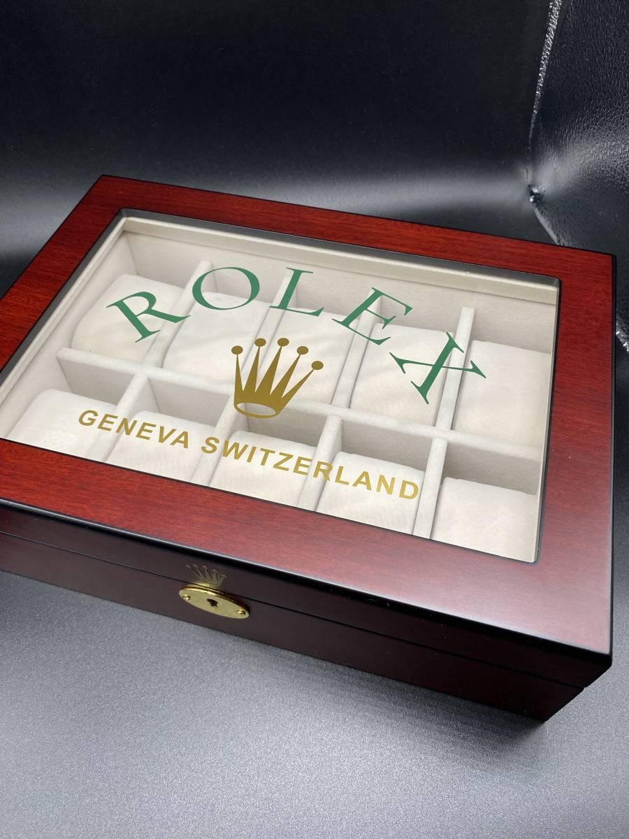 未使用 ロレックス Rolex コレクター向け ディスプレイ ケース 2段 収納 コレクション