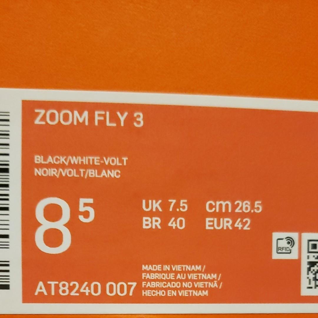 新品正規 NIKE ZOOM FLY 3 ナイキズームフライ3 26.5cm 厚底スニーカーメンズ ランニングシューズ ジョギング
