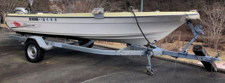 ボート 船 小型船 さんぱ船 スズキ FK190 GYO19 ホンダ BAMJ 20PS トレーラーおまけ 20210606 fjwrmto h 0606_画像1