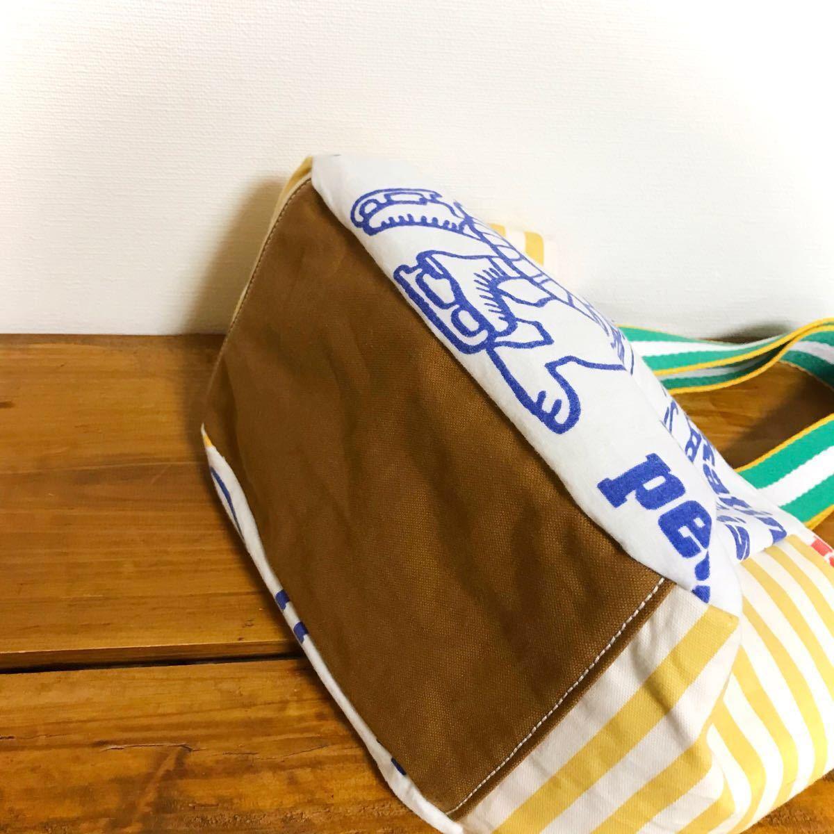 スヌーピー  まんまるバッグ S ビンテージシーツ バッグ