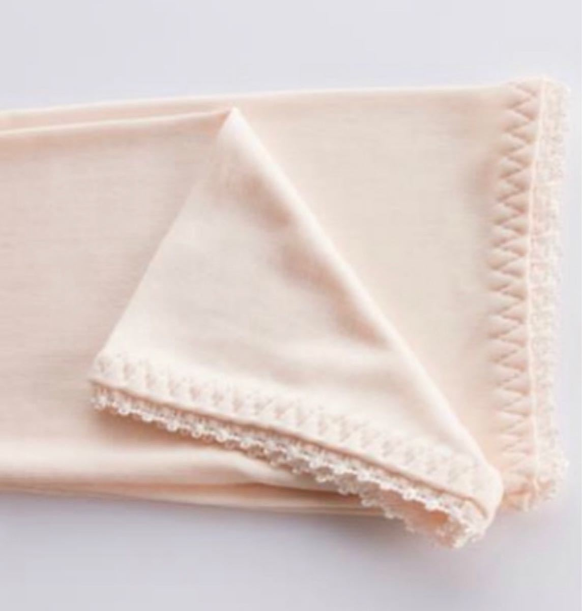 シルク絹100%  手袋 乾燥対策美肌潤いUV対策 黒 1点 長さ58cm