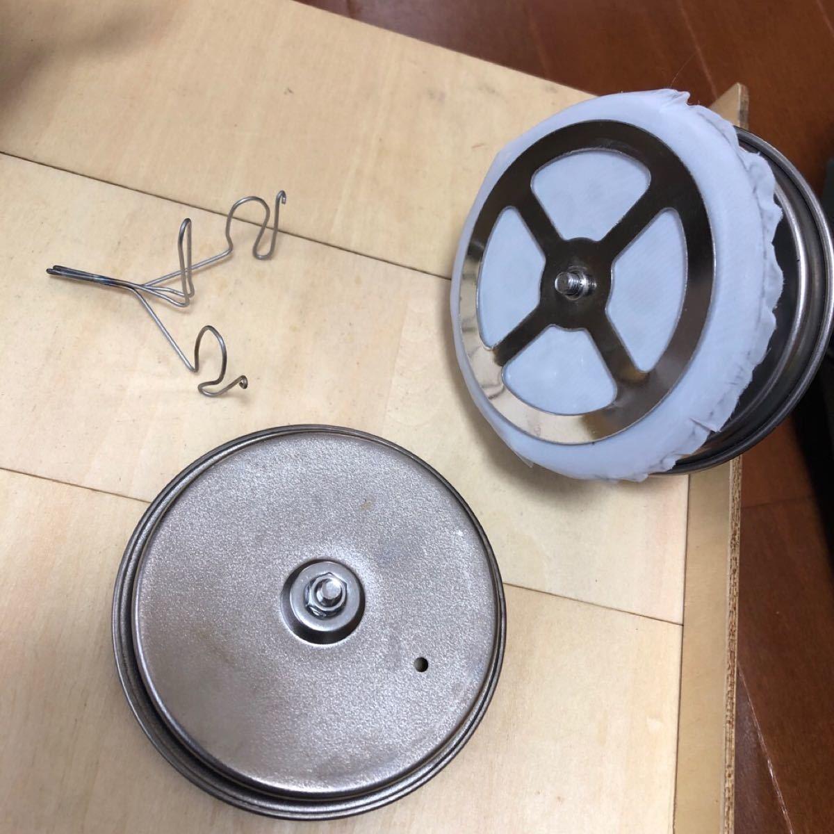 スノーピーク  チタン カフェプレス + チタン製蓋 + ワイヤースキッター