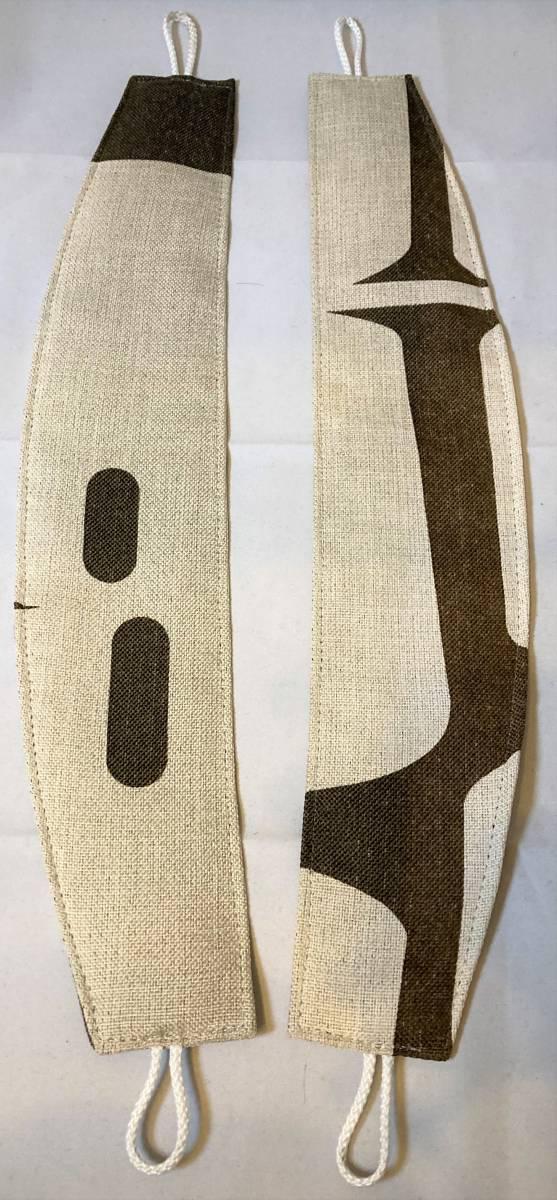 スミノエ 3級遮光カーテン オーダーメイドサイズ 幅123cm×丈178cm*2枚 モリノキ Dブラウン 1.5倍ヒダ フック付き 中古一部訳あり_画像2