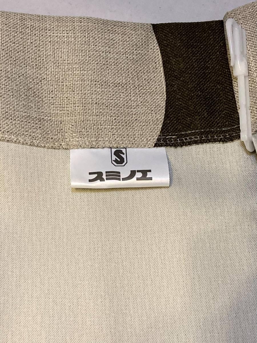 スミノエ 3級遮光カーテン オーダーメイドサイズ 幅123cm×丈178cm*2枚 モリノキ Dブラウン 1.5倍ヒダ フック付き 中古一部訳あり_画像3