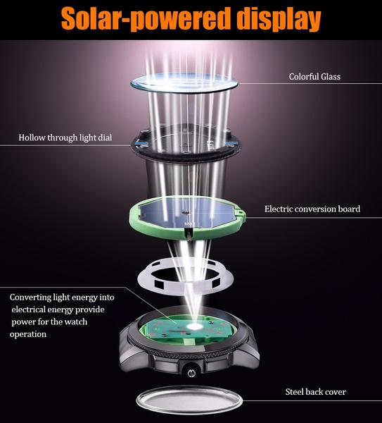 ☆新品ソーラーパワー海外メーカー SKMEI デジアナ ハイブリット 多機能 カレンダー ストップウオッチ LED照明 日本未販売 メンズ腕時計_画像1