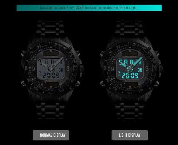 ☆新品ソーラーパワー海外メーカー SKMEI デジアナ ハイブリット 多機能 カレンダー ストップウオッチ LED照明 日本未販売 メンズ腕時計_画像8