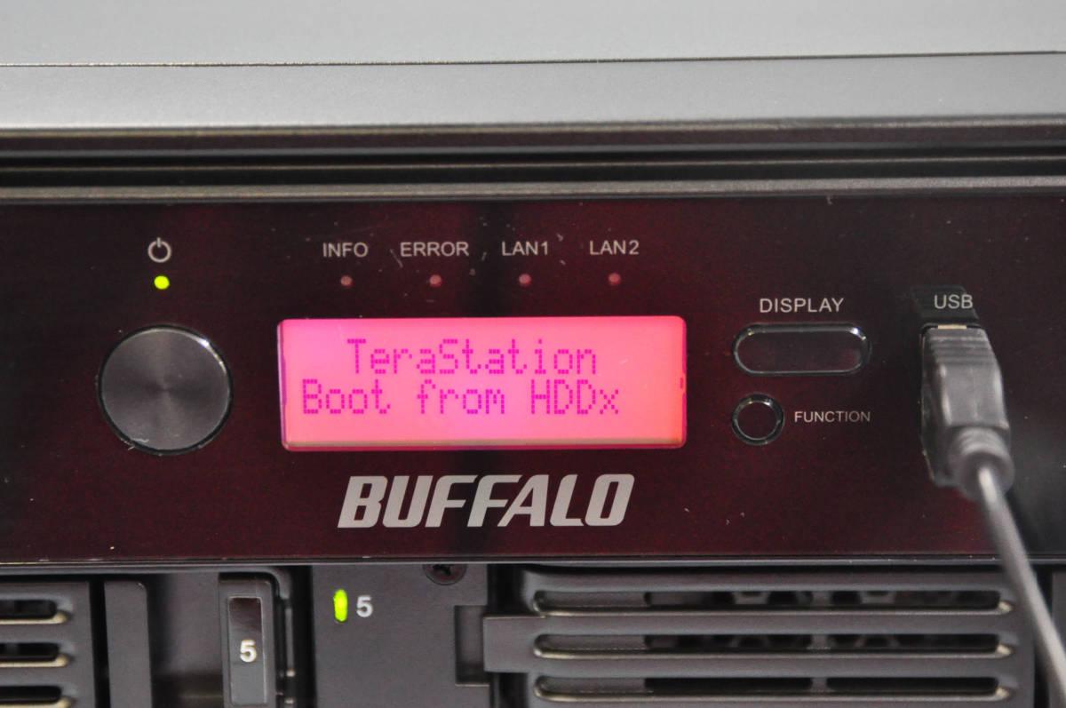 BUFFALO TeraStation RAID機能搭載 8ドライブNAS TS5800D2408 【250GB x 8個】Atom D2701/メモリ2GB/鍵有/Windows storage server 2012R2済
