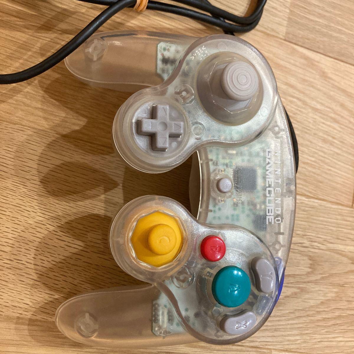 ゲームキューブコントローラー クリア ニンテンドーゲームキューブ gcコン