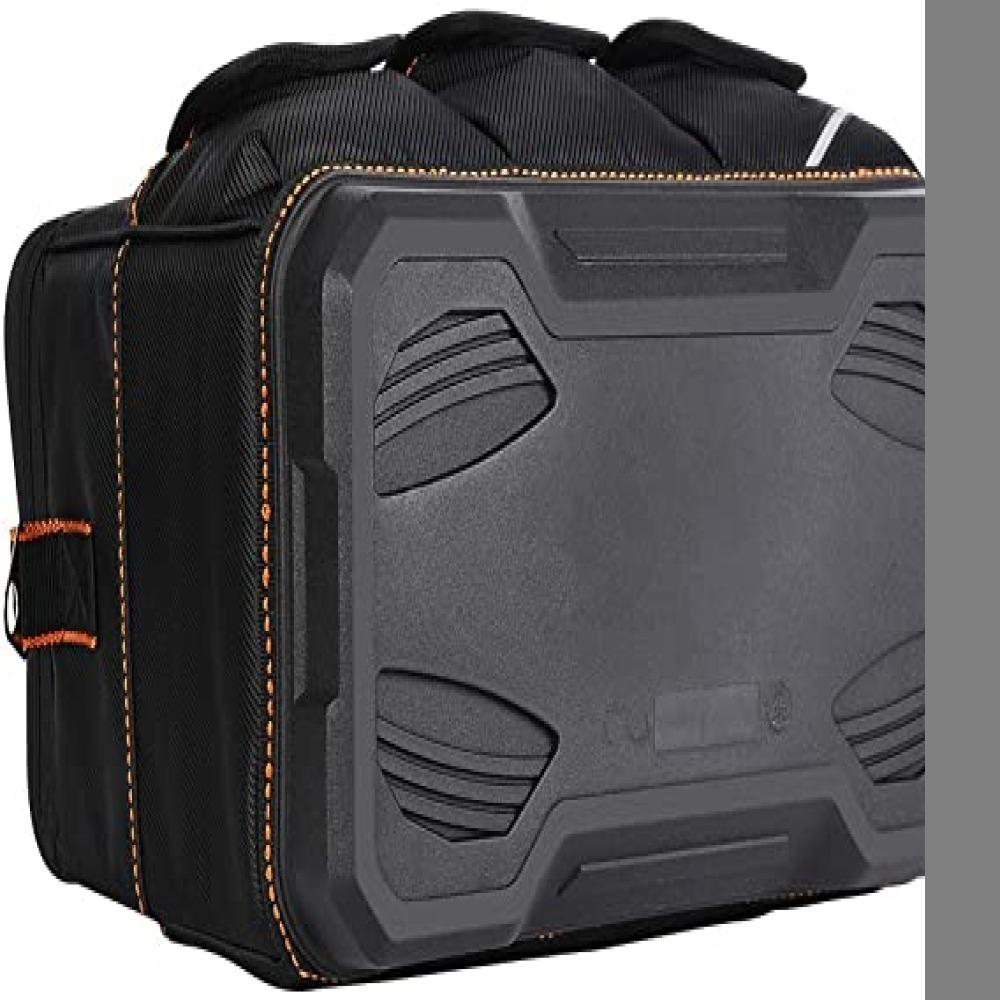 新品・黒 ツールバッグ 工具差し入れ 工具バッグ 大口収納 手提げ 作業用 持ちやすい 強化底 撥水処理 耐摩耗 工4G4Z_画像2