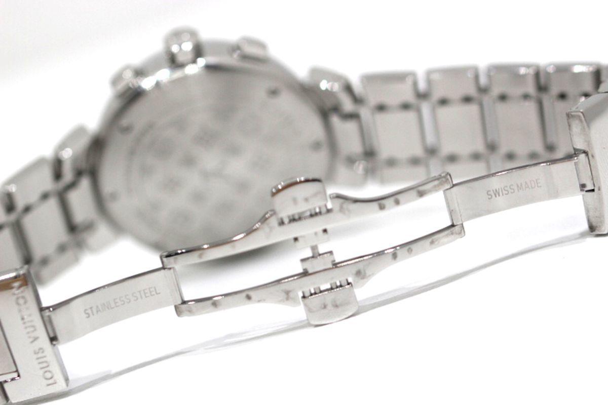 磨き済 超美品 ヴィトン Q1322 タンブール クロノグラフ クオーツ ステンレスベルト 時計 ボーイズ_画像5