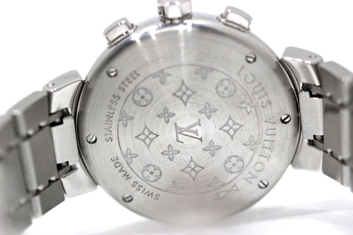 磨き済 超美品 ヴィトン Q1322 タンブール クロノグラフ クオーツ ステンレスベルト 時計 ボーイズ_画像6