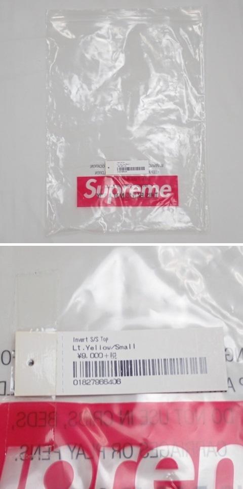 ●1円 未使用 Supreme/シュプリーム 半袖Tシャツ メンズS/ライムイエロー/コットン100%/ロゴ/クルーネック#1040800015_画像7