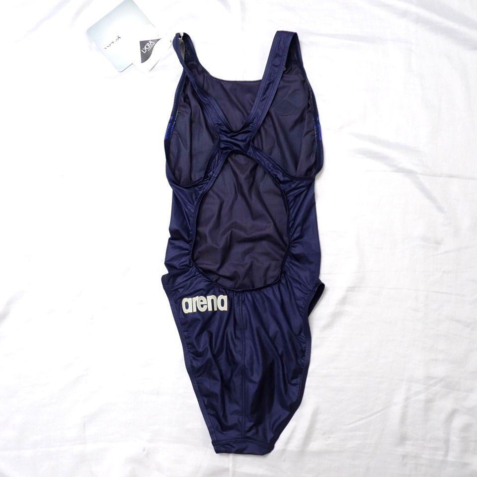 ●未使用 arena/アリーナ X-FLAT 女子 競泳水着 L/ダークネイビー/ARN-1001W/ハイカット/スイムウェア/水泳#1603900061_画像2